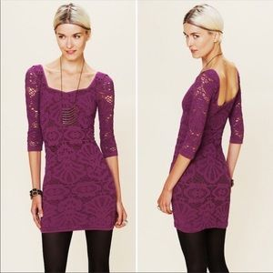 Intimately Free People Berry Bodycon Dress